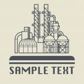 Oil refinery factory icon or sign — Stock Vector