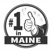 Abstract grunge rubber stamp with text Number One in Maine — Stock Vector
