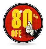 Sale discount sign — Vector de stock