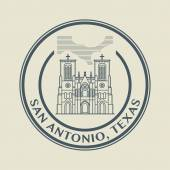 Stamp with name of Texas, San Antonio — Stock Vector