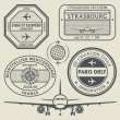 Travel stamps set — Stock Vector #54047159