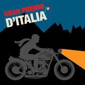 Vintage Motorcycle sport label — Stock Vector