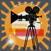 Fondo de cine abstracto — Vector de stock