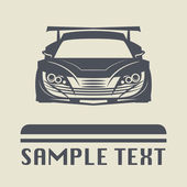 Race car icon or sign — Stock Vector