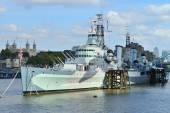 HMS Belfast in London — Stock Photo