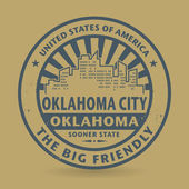 Grunge rubber stamp with name of Oklahoma City, Oklahoma — Stock Vector