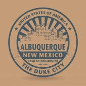 Grunge rubber stamp with name of Albuquerque, New Mexico — Stock Vector