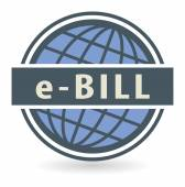 Abstract stamp or label with the text E-Bill — Cтоковый вектор