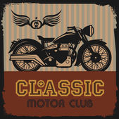 Vintage Motorcycle label — Stock Vector