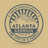 Grunge rubber stamp with name of Atlanta, Georgia — Vecteur