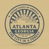 Grunge rubber stamp with name of Atlanta, Georgia — Stockvector