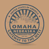 Grunge rubber stamp with name of Omaha, Nebraska — Stock Vector