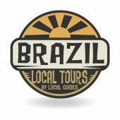 Abstract stamp with text Brazil, Local Tours — Stock Vector