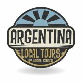 Abstract stamp with text Argentina, Local Tours — Stock Vector