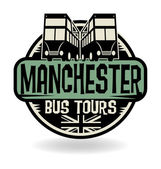 Abstract stamp with text Manchester, Bus Tours — Stock Vector