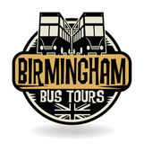 Abstract stamp with text Birmingham, Bus Tours — Stock Vector