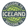 Color stamp with text Welcome to Iceland inside — Stock Vector #57183695