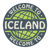 Color stamp with text Welcome to Iceland inside — Stock Vector