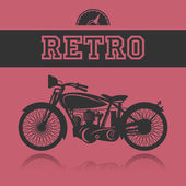 Vintage Motorcycle label — Vecteur