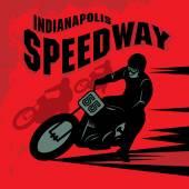 Vintage Motorcycle race label — Vecteur