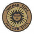 Grunge rubber stamp with the words Summer Time — Stock Vector #57630483