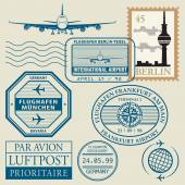 Travel stamps set — Stock Vector