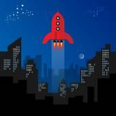 Rocket start — Stock Vector