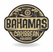 Stamp or label with the name of Bahamas — Stock Vector