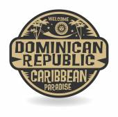 Stamp or label with the name of Dominican Republic — Stock Vector