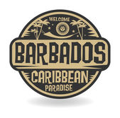 Stamp or label with the name of Barbados — Vector de stock