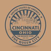 Grunge rubber stamp with name of Cincinnati, Ohio — Vector de stock