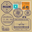 Travel stamps set — Stock Vector #58504273