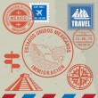 Travel stamps set — Stock Vector #60032517