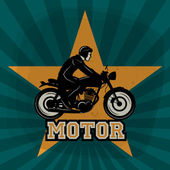 Vintage Motorcycle poster — Wektor stockowy