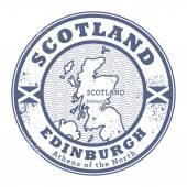 Grunge rubber stamp with words Scotland, Edinburgh — Stock Vector