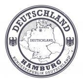 Grunge rubber stamp with words Deutschland, Hamburg — Stock Vector