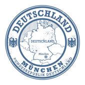 Grunge rubber stamp with words Deutschland, Munchen — Stock Vector