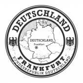 Grunge rubber stamp with words Deutschland, Frankfurt — Stock Vector