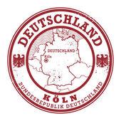 Grunge rubber stamp with words Deutschland, Koln — Stock Vector