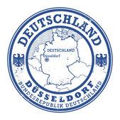 Grunge rubber stamp with words Deutschland, Dusseldorf — Stock Vector