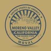 Grunge stamp with name of Moreno Valley, California — Stock Vector