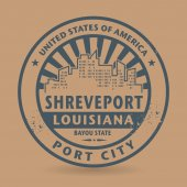 Grunge rubber stamp with name of Shreveport, Louisiana — Stock Vector