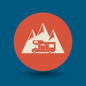 Camper symbol — Stok Vektör