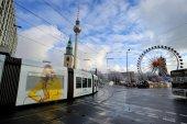 Traffic near Alexanderplatz, Berlin — Stock Photo