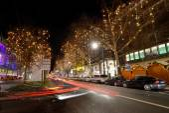 Night traffic, Berlin — Stock Photo