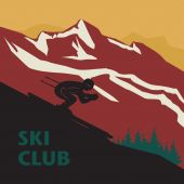 Winter mountain adventure background — Stock vektor