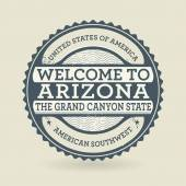 Grunge rubber stamp with text Welcome to Arizona, USA — Stock Vector