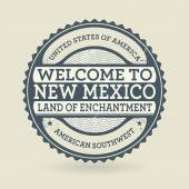 Grunge rubber stamp with text Welcome to New Mexico, USA — Stock Vector