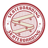 Stamp with text Skateboarding — Stock Vector