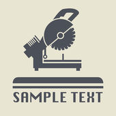 Saw tool icon or sign — Stock Vector